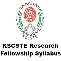 kscste fellowship syllabus