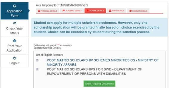 National Scholarship Portal 2017 - Application, Scholarship, Login