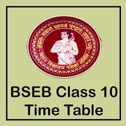 bseb bihar board 10th time table