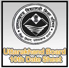 uttarakhand board 10th date sheet
