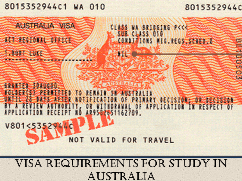 Visa Requirements for Study in Australia