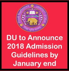 du admission guidelines 2018 by january end