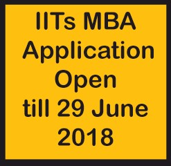 iits mba application open till 29 june 2018