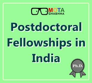 postdoctoral fellowship in india