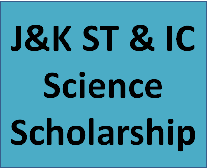 J&K ST & IC Science Scholarship