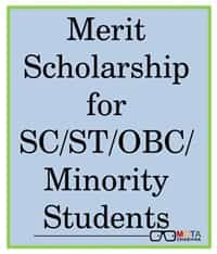 merit scholarship for sc st obc minority students delhi