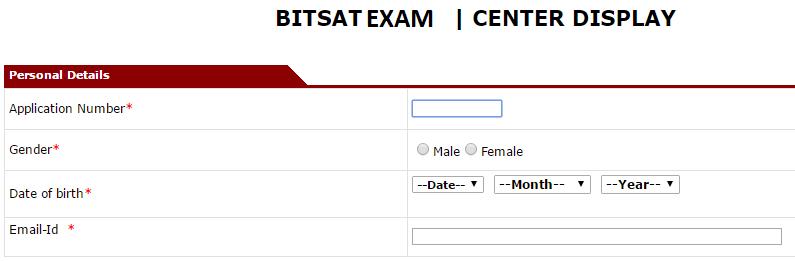 BITSAT Test Centre Allottment