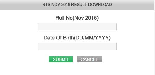 Tamil Nadu NTSE Result
