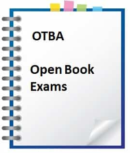 how to study for an open book examination otba