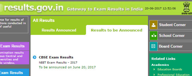 NEET Result Date Notification
