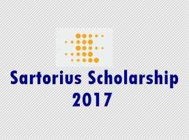 Sartorius Scholarship 2017